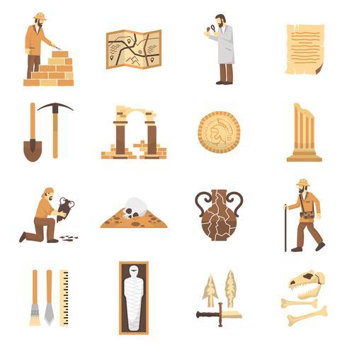 Archäologie-Icons Set