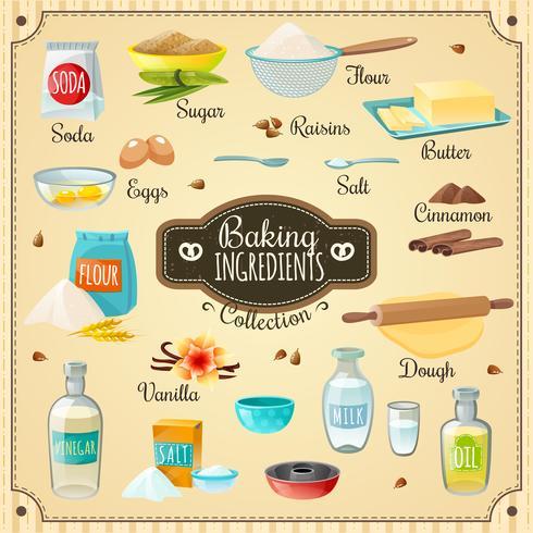 Set di ingredienti per dolci