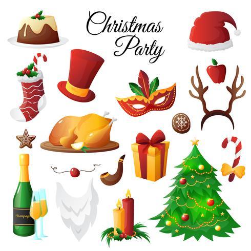 Conjunto de festa de natal