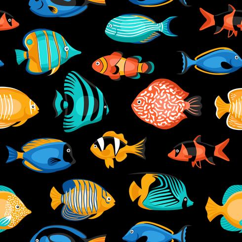 Tropical Fish Seamless Pattern  vector