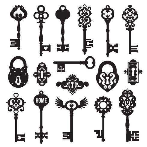 Black Keys And Locks Set