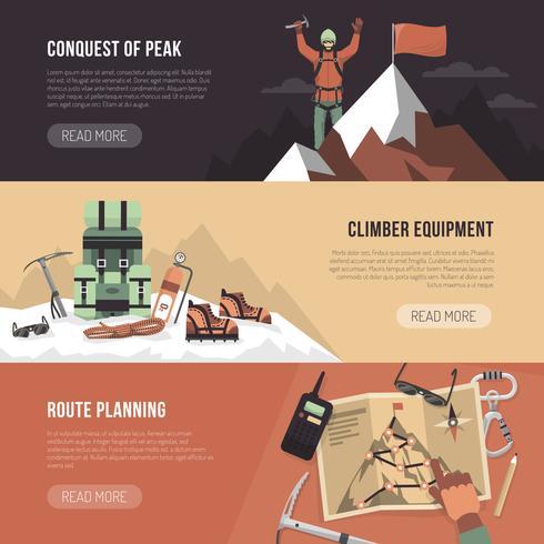 Bannière de conception d'alpinisme vecteur