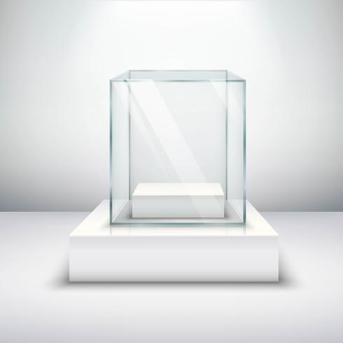 Vitrine de vidro vazio vetor