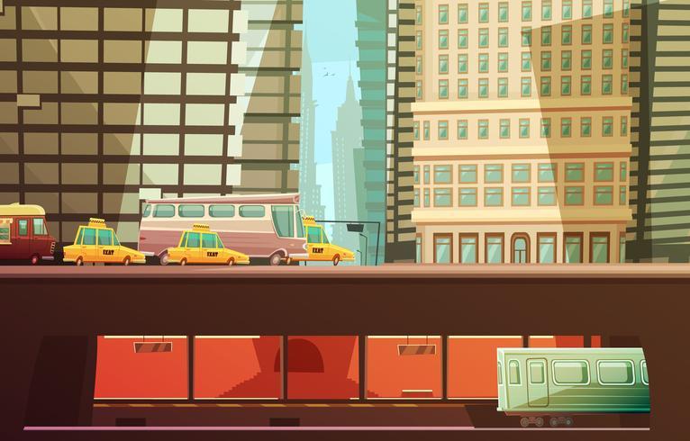 Concept de design de la ville de New York vecteur