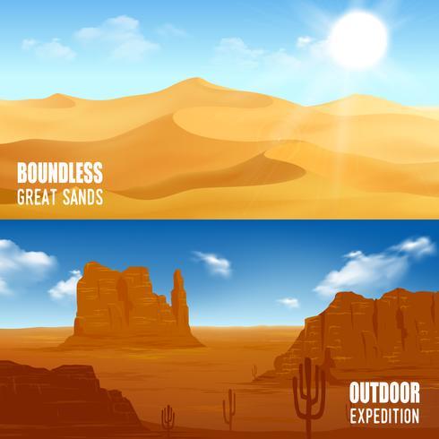 Horizontal Desert Banners
