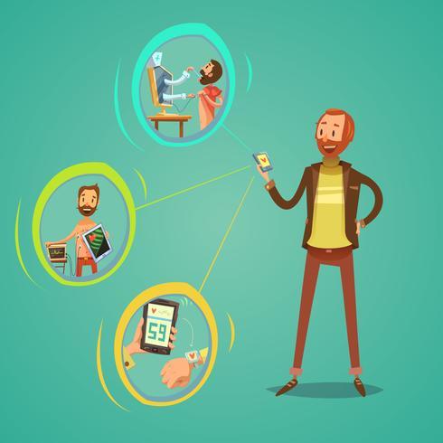 mobil medicin illustration
