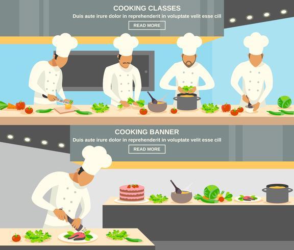 Conjunto de pancartas de profesión de cocinero vector