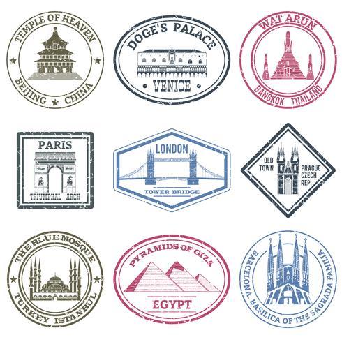Denkmäler Briefmarken Set