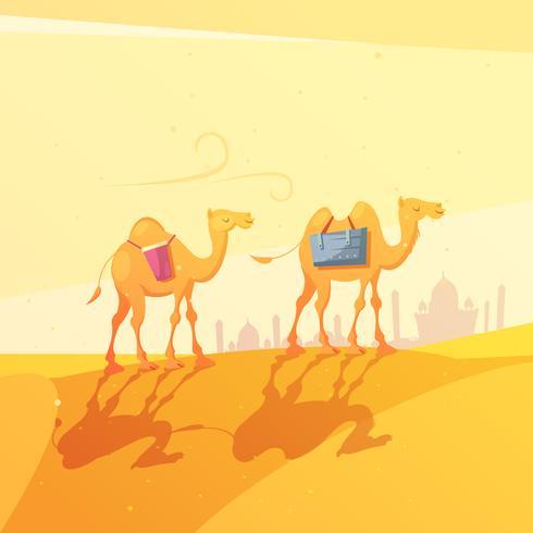 ramadan camel illustration vector
