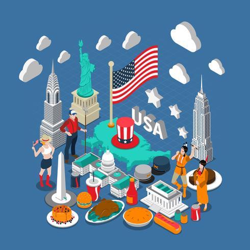 USA Koncept Sammansättning