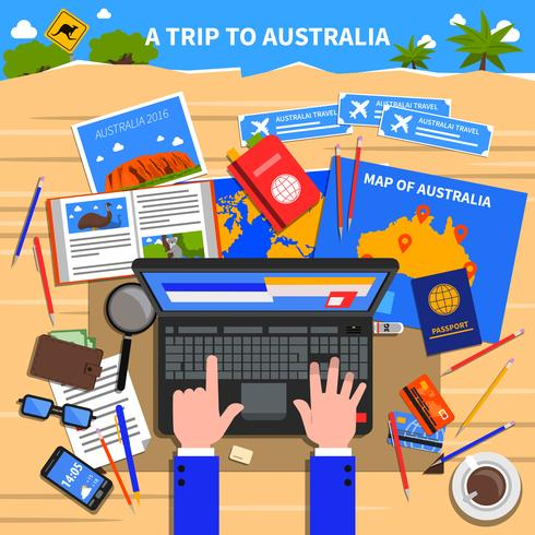 Reise nach Australien Illustration