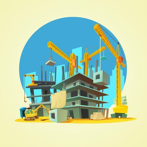Ilustración de dibujos animados de construcción