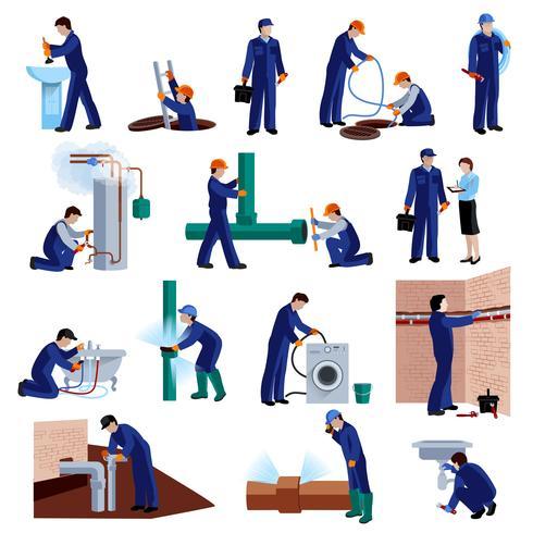 Loodgieter pictogrammen instellen