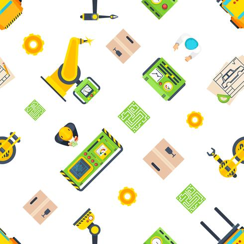 Production Line Seamless Pattern