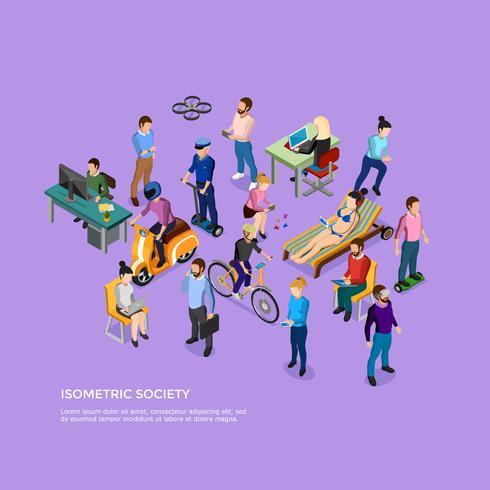 Isometric People Society