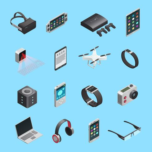Isometric Icons Set Of Gadgets