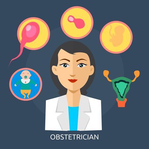 Obstetricia Conceptual Ilustración Diseño vector