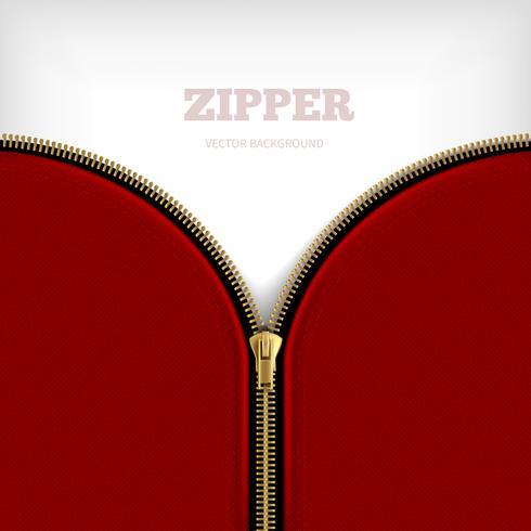 Abstract Background With Golden Metallic Zipper