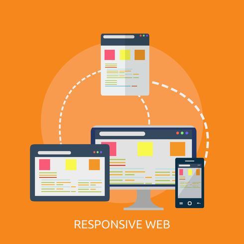Progettazione dell'illustrazione concettuale di web responsive