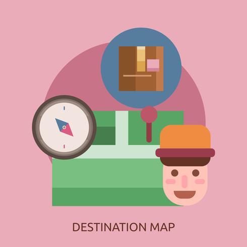 Destination Carte Illustration conceptuelle Design