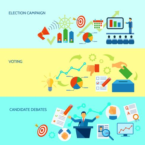 Election Campaign Process Banner vector