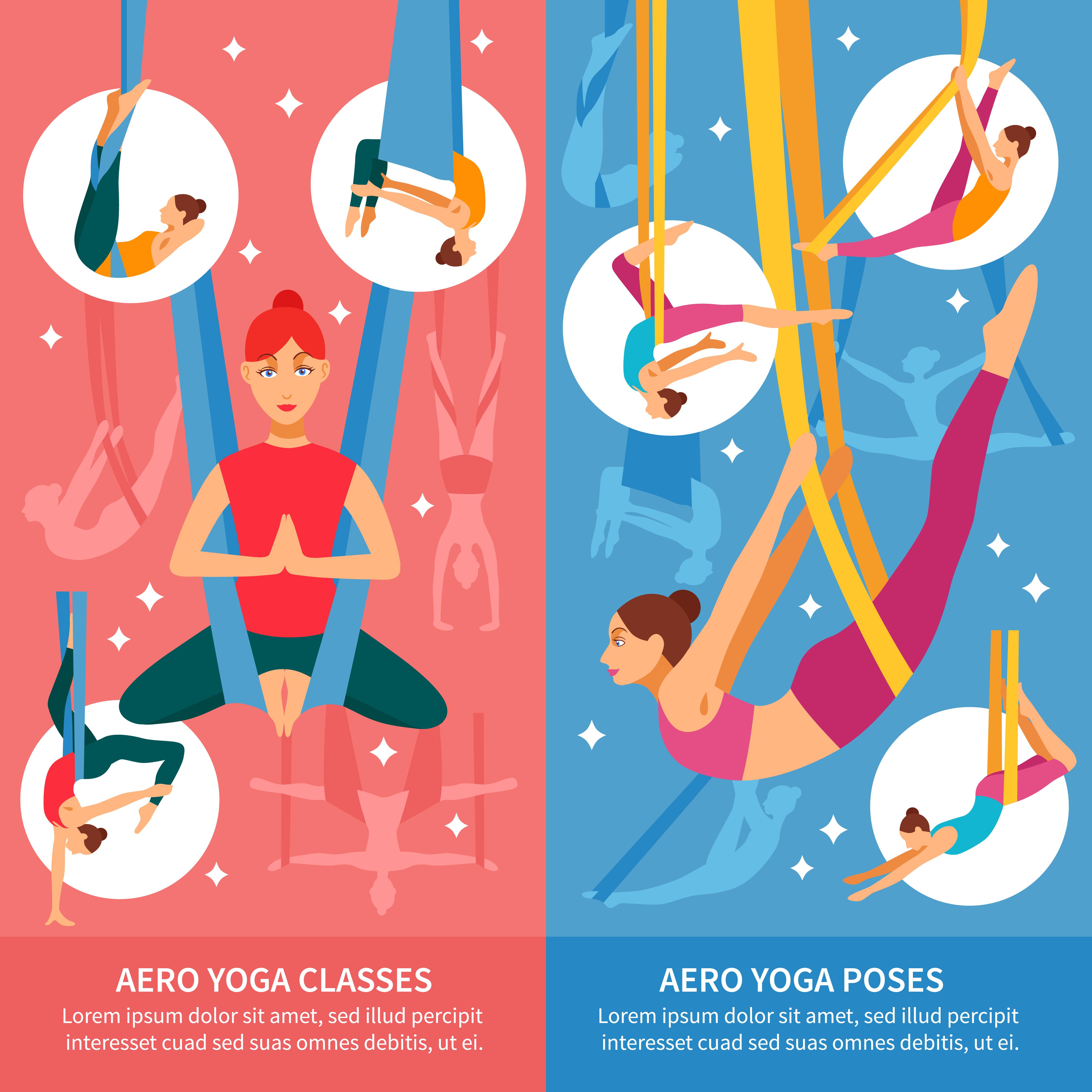 Aero Yoga Banner Set Download Free Vectors Clipart Graphics Vector Art