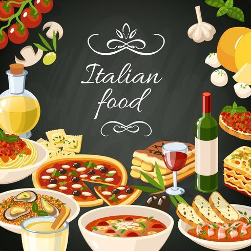 Italiensk mat vektor