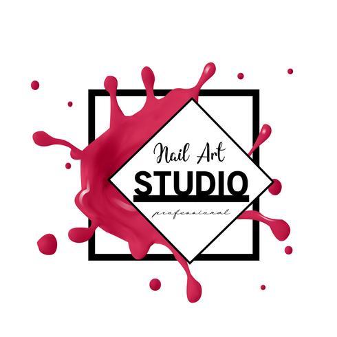 Nail Art studio logo ontwerpsjabloon.