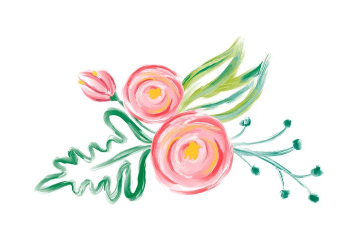 Ramalhete bonito da flor do vetor da aquarela da mola. Arte ilustração isolada para o projeto de casamento ou feriado, mão desenhada pintar rosas