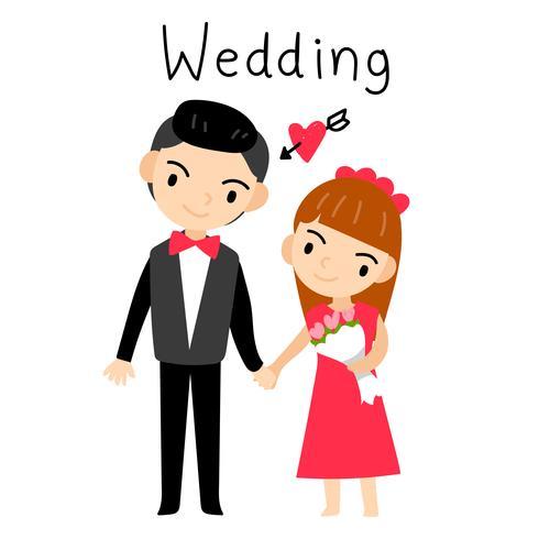 bruidspaar vector ontwerp