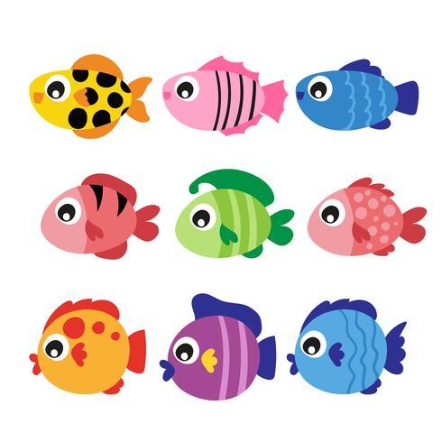 diseño de la colección de vectores de peces