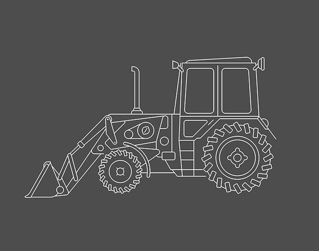 Excavator vector lie art design