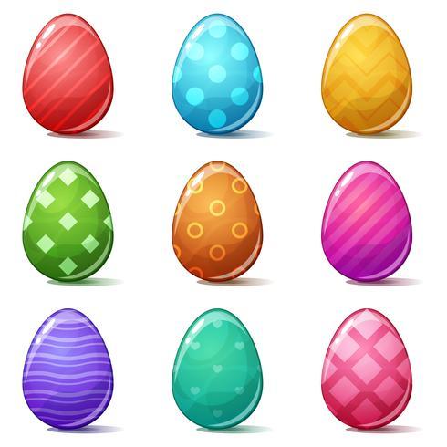 Happy easter, Set color egg.