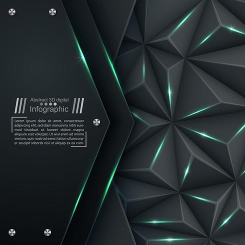 Geschäftspapierschablone - Origamihintergrund.