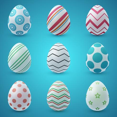 Happy easter cartoon. Set egg icon.