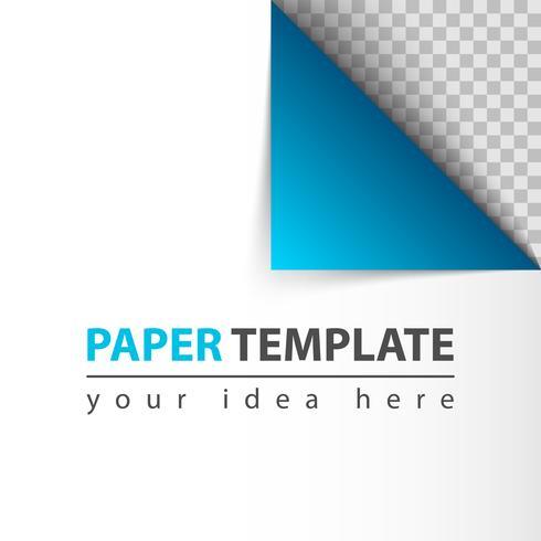 Paper twirl mall för din idé vektor