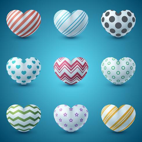 Liefde en hart realistische pictogram.