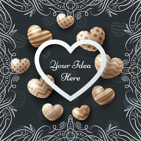 art, sale, love, Valentine, Happy Birthday - template