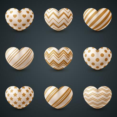 Amor y corazón icono realista.