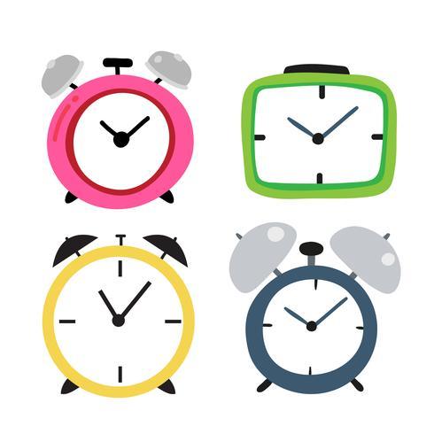 klok vector collectieontwerp