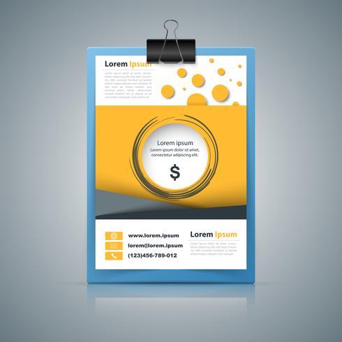 Striscione di carta - infografica di affari.