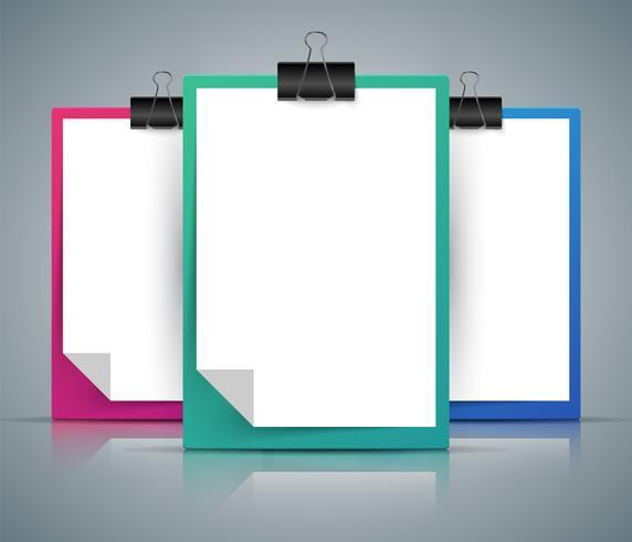 Tableta de papel, clip, pin - formato A4.