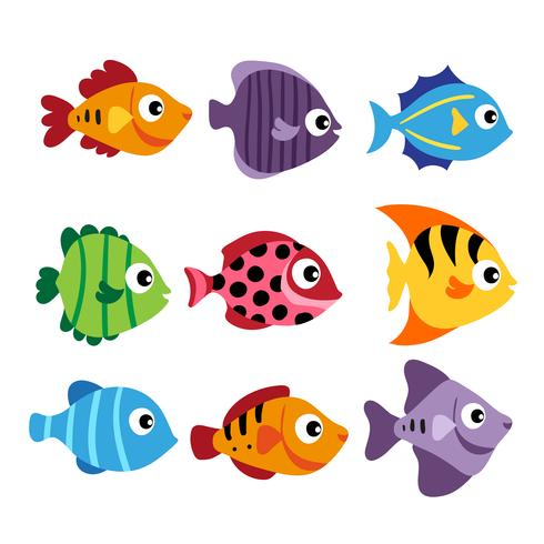 pesce disegno vettoriale gioco di corrispondenza