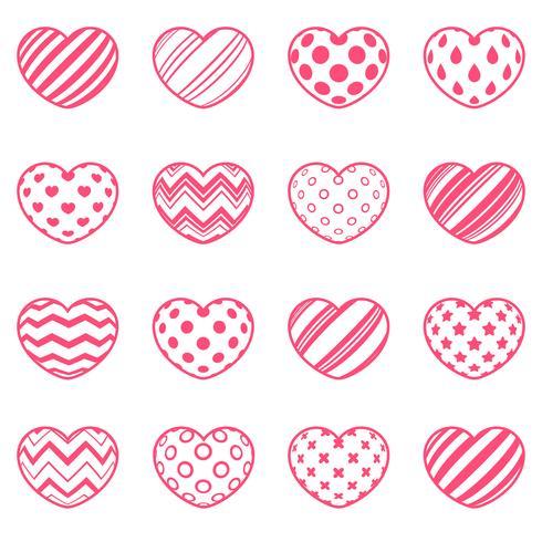 Establecer el amor y el icono del corazón