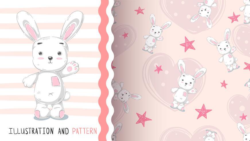 Gullig kanin - idé för tryckt-skjorta