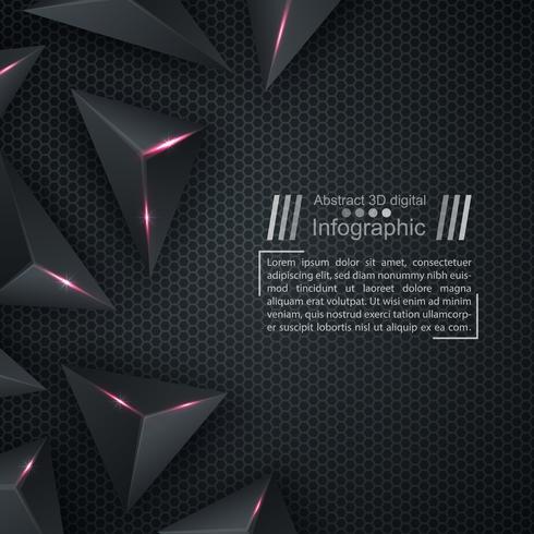 Plantilla de documento de negocios - fondo de origami. vector
