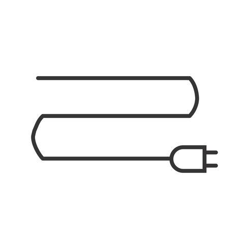 Verbindingslijn zwart pictogram