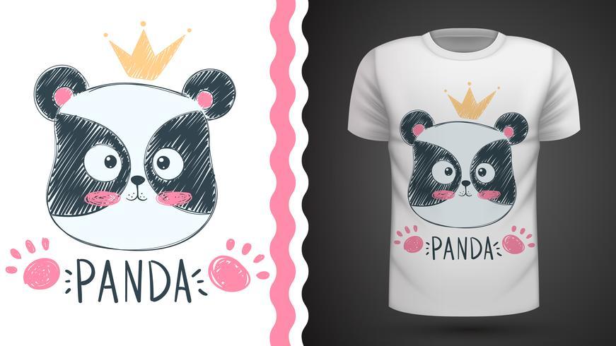 Netter Panda - Idee für Druckt-shirt
