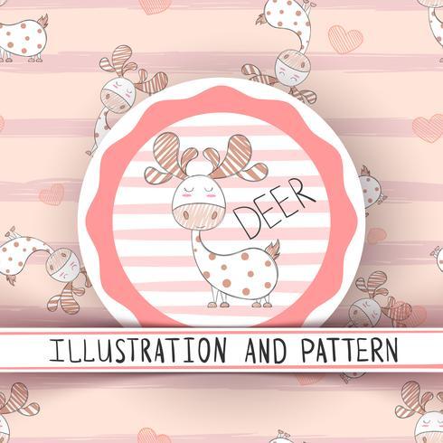Cute sleep dino - seamless pattern
