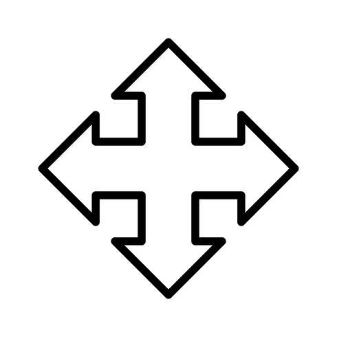 Verplaats pijl lijn gevuld pictogram